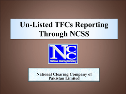 Un-Listed TFC Reporting through NCCPL