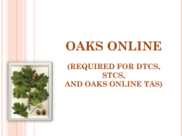 OAKS ONLINE - Eugene School District 4J