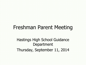 Freshman Parent Meeting