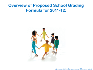 Proposed School Grade Changes for 2011-2012