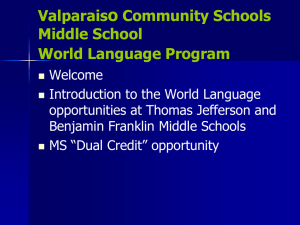 Communication Arts - Valparaiso Community Schools