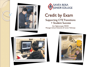 High School-SRJC Articulation & Credit by Exam Outcomes