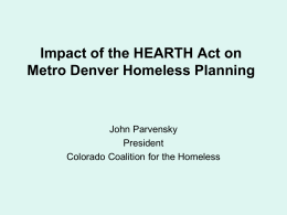 Understanding and Implementing the HEARTH Act