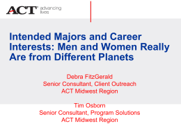 ACT - Intended Majors and Career Interests