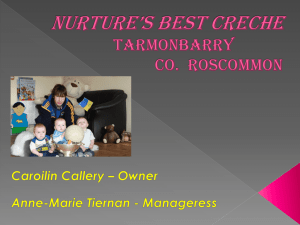 NURTURES BEST CRECHE Tarmonbarry Co. Roscommon