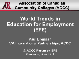 EFE - Colleges and Institutes Canada