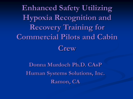 Hypoxia Recognition and Recovery Training for