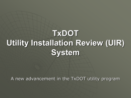 Utility Installation Review System