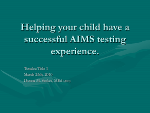 Helping your child have a successful AIMS testing experience