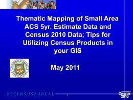 Creating Thematic Maps with 2010 Census Data
