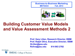 04_B2B_HO__Customer_Value_5_Sept_2013
