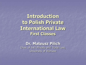A PowerPoint presentation - 1st Classes - Mateusz Pilich