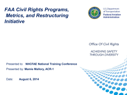 FAA Civil Rights Program-By Mamie Mallory