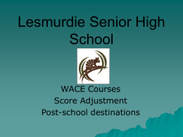 parentpresentation2 - Lesmurdie Senior High School