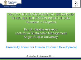 acevedoHRD Forum – Sustainable Universities