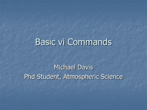 Basic vi Commands Presentation