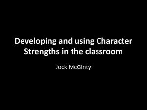 Character Strengths in the Classroom