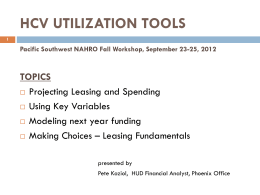 HCV UTILIZATION TOOLS - pswrc
