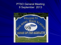 "Mr. Loughran`s presentation ""Welcomes PTSO Back to School"""