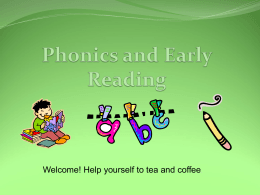 Notes from Year R Phonics Meeting
