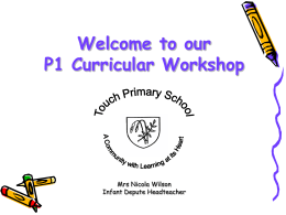 P1 Curriculum Parent Talk Powerpoint Presentation
