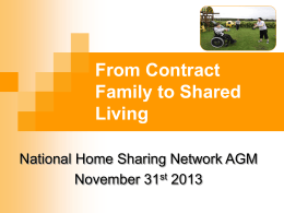 - National Home-sharing & Short