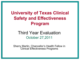 Clinical Safety and Effectiveness Quality Improvement Course