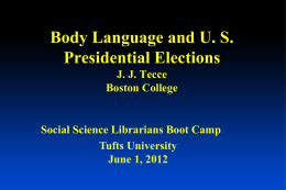 Body Language & US Presidential Elections