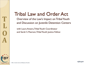 TLOA - Tribal Juvenile Detention and Reentry Green