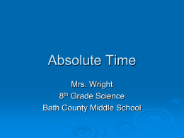 Absolute Age - Bath County Schools