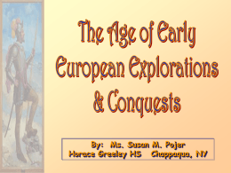 Age of Early European Explorations & Conquests