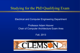 PhD Qualifying Exam
