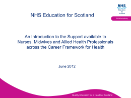 Supporting NMAHP workforce across the Career Framework for