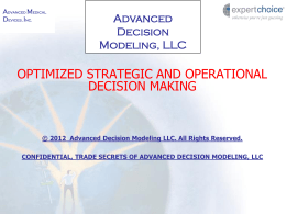 Advanced Decision Modeling, LLC