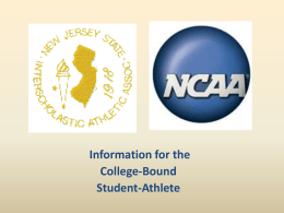 NJSIAA/NCAA Requirements Power Point Presentation