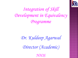 Equivalency Programme