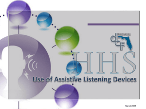 Use of Assistive Listening Devices - Florida Department of Children