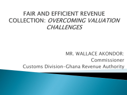 FAIR AND EFFICIENT REVENUE COLLECTION: OVERCOMING