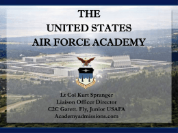 USAFA Brief for Castor`s Academy Day