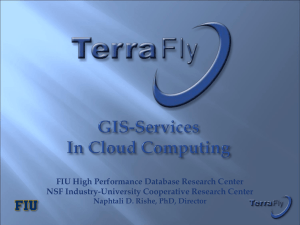 TerraFly Cloud With UMBC - NSF Industry/University