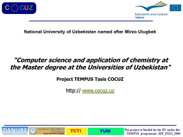 Presentation by Professor Kudratillo Fayazov, National University of