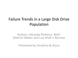 Failure Trends in a Large Disk Drive Population