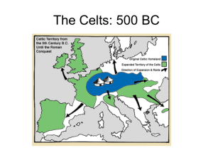 The Celts: 500 BC - Portlaoise College