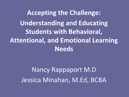 Rethinking Behavioral Interventions