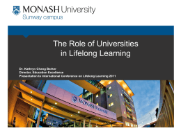 The Role of Universities in Lifelong Learning