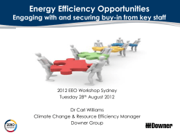 PPT 1.4MB - Energy Efficiency Opportunities