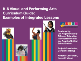Arts Integrated Lesson Guide