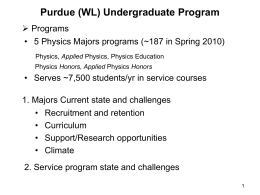 Purdue University Department of Physics