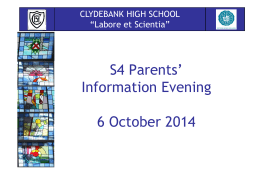 here - Clydebank High School