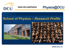 - School of Physical Sciences